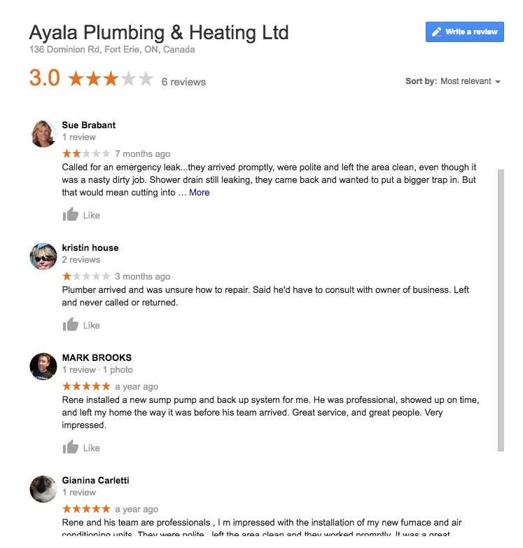 google review details